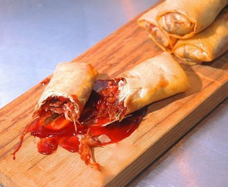 Duck Spring Rolls, Sweet Chilli Hoisin Dipping Sauce