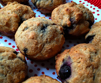 Healthy Whole-Wheat Blueberry Muffins