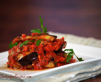 "Georgian Style Eggplant Recipe – Салат с баклажанами ""Тёщин язык"""