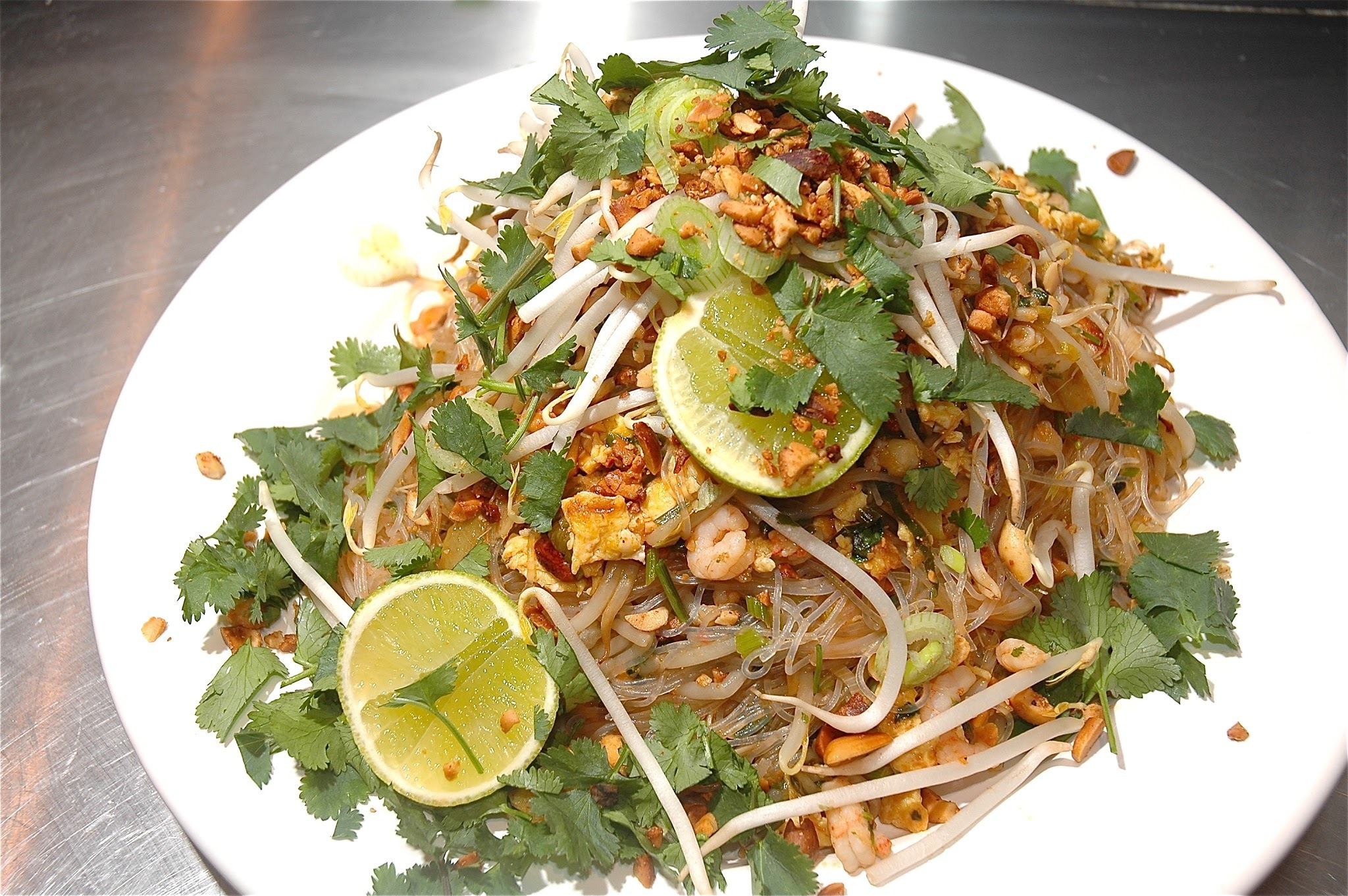 Pad Thai Noodles with Chicken and Prawn