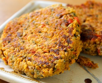 My Chickpea Quinoa Burgers Featured by Meatless Monday