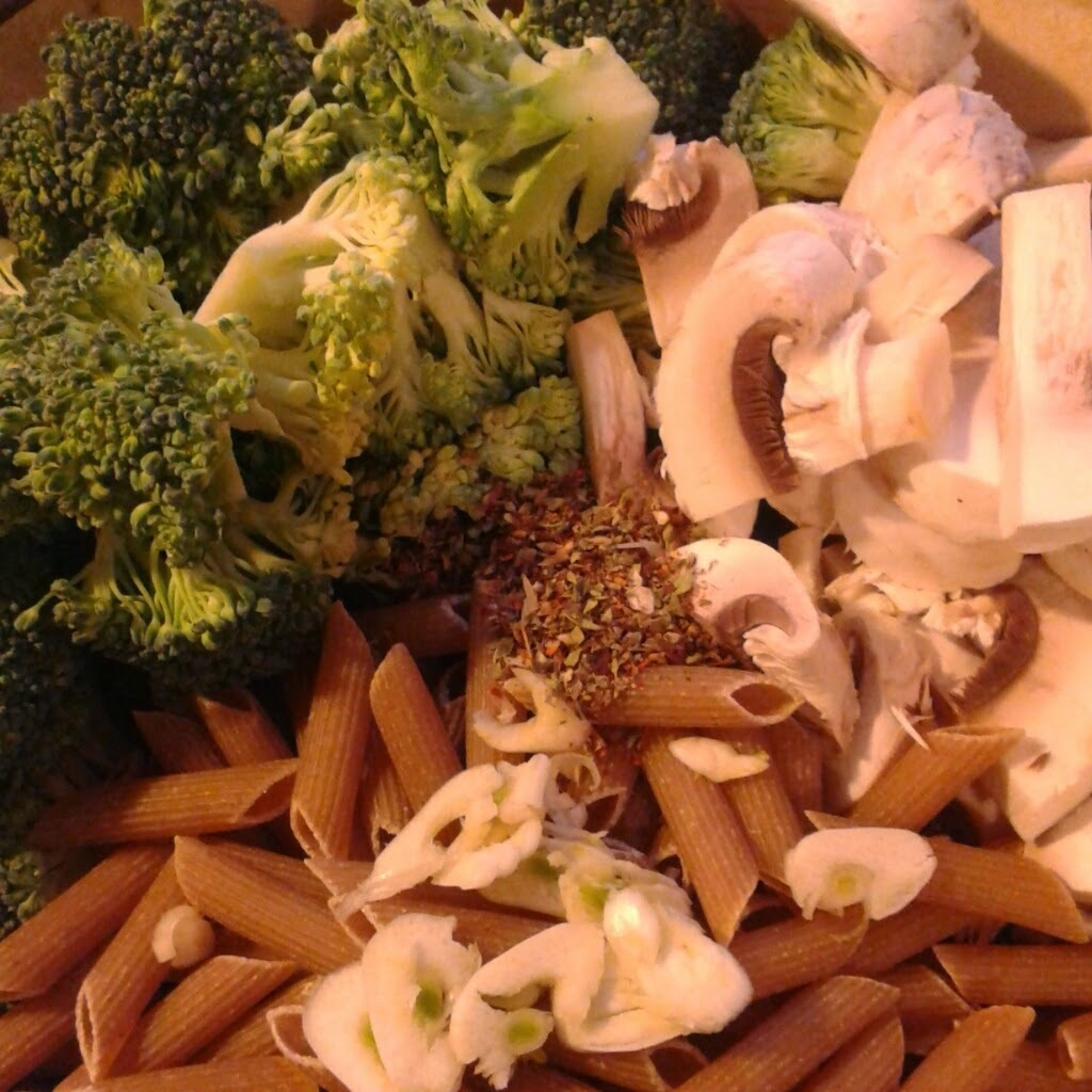 One Pot Pasta met kip, champignons en broccoli