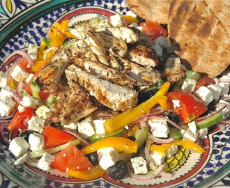 Char-Grilled Chicken, Greek Salad