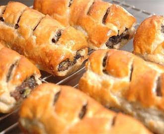 Black Pudding, Spring Onion & Sage Sausage Rolls