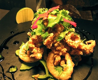 Crispy Salt & Pepper Squid, Chilli Soy Caramel