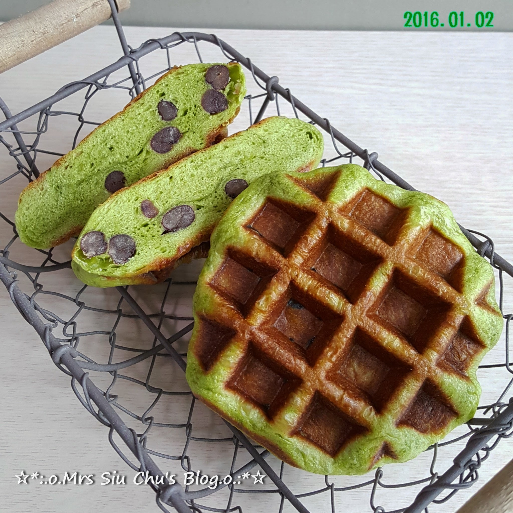 綠茶紅豆列日窩夫 Green tea and red bean Liège Waffle [Vitantonio VWH-120-R, 附食譜]