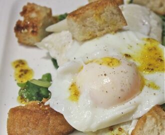 Smoked haddock with poached egg