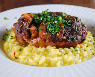 Osso buco met risotto milanese