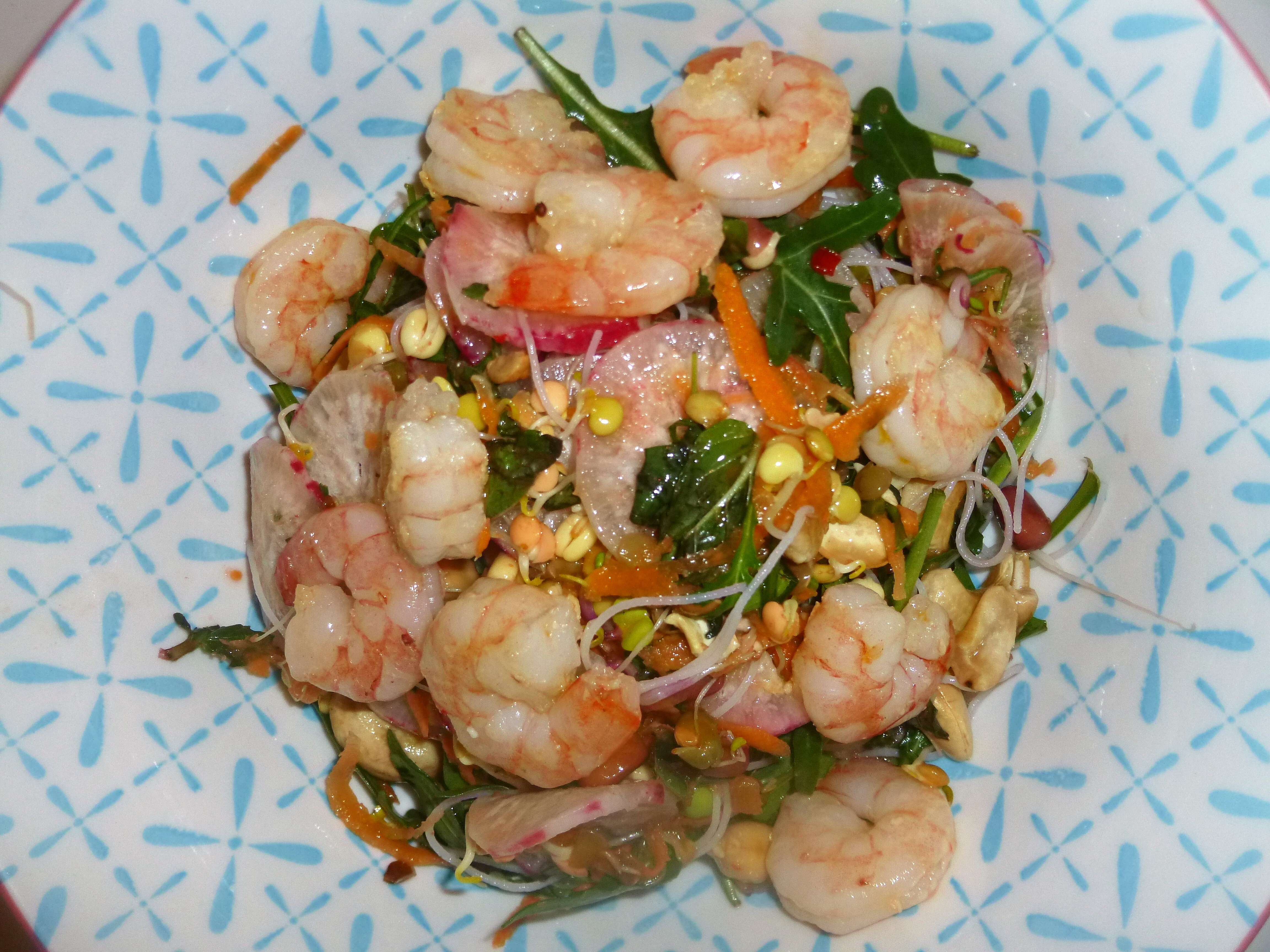 Prawn Noodle Salad with a Sweet Chilli Dressing Recipe
