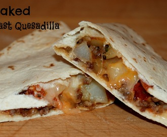 Baked Breakfast Quesadilla