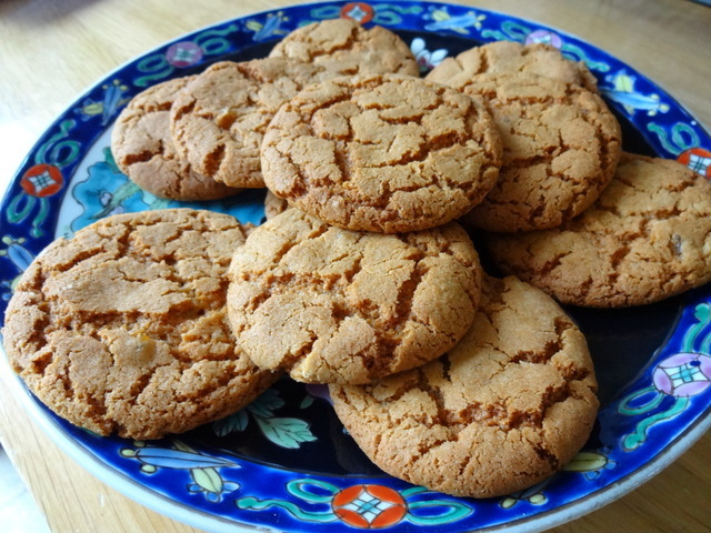 Delicious ginger biscuits