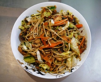 Punchy Crunchy Chicken Noodle Salad