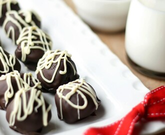 Dark Chocolate Almond Truffles