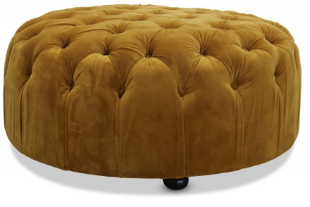 Chesterfield Cambridge sittpuff - Gold sammet