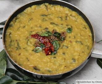 Free from Friday's: Lentil dal with bottle gourd and spinach.