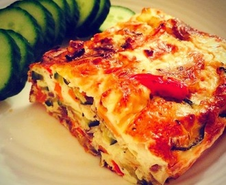 Recipe: Mixed Vegetable and Feta Crustless Quiche