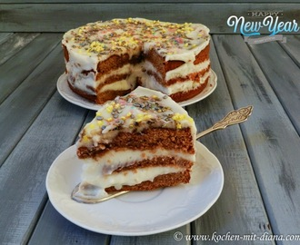 Schokoladentorte mit Milchcreme/ Chocolate cake with milk cream