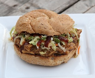 BBQ Chicken Sandwiches with Cilantro Sesame Slaw