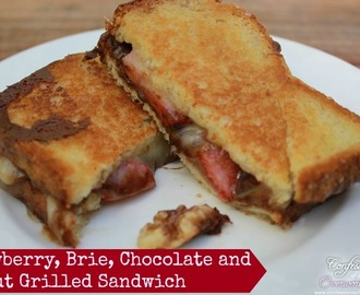 Grilled Sandwich Recipe – Strawberry, Brie, Chocolate and Walnut
