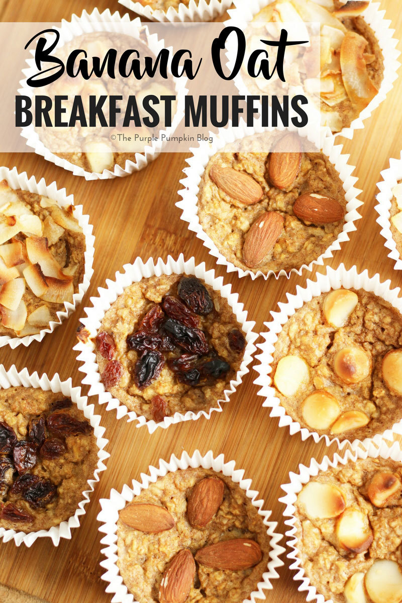 Banana Oat Breakfast Muffins