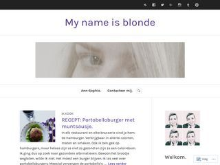 My name is blonde