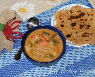 Vegetable Kurma (Mixed Vegetables in spicy Indian Gravy)