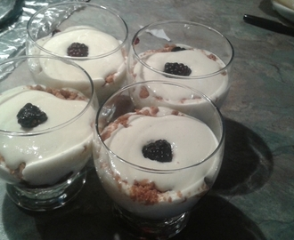 Verrines tiramisu aux fruits rouges