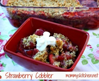 Simple Oatmeal Strawberry Cobbler + {Tips for Purchasing & Storing}