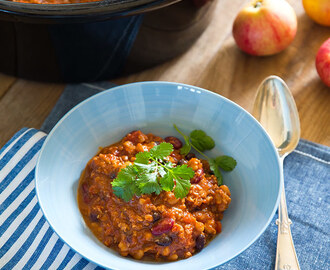 Chili con Carne i Crock Pot