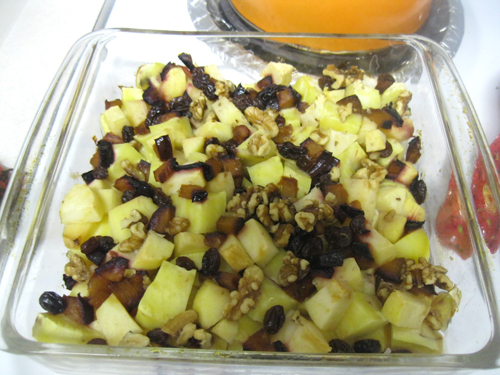 Baked Sweet Potatoes with Apples and Walnuts