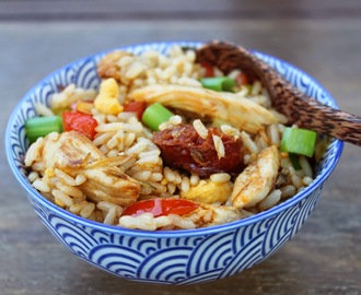 Chorizo and Chicken Egg fried Rice