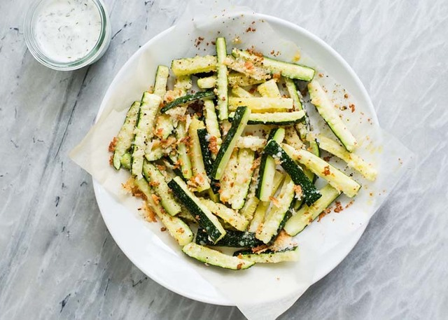 courgette friet met kaas