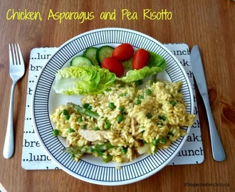 Quorn Chicken, Asparagus and Pea Risotto