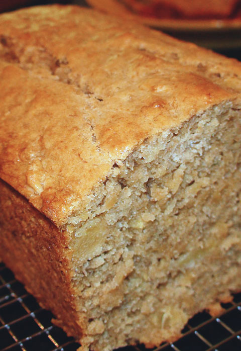 Tropical Pineapple Coconut Banana Bread