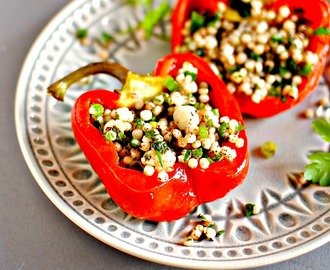 Mediterranean Stuffed Peppers – naturally vegan, naturally delicious