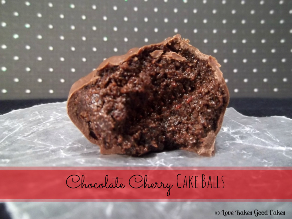 Chocolate Cherry Cake Balls