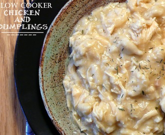Easy Peasy Slow Cooker Chicken and Dumplings