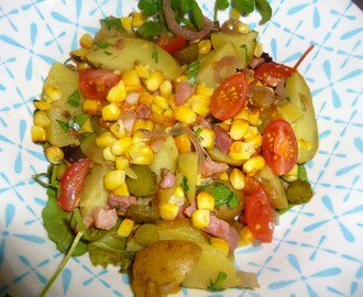 Loaded Potato Salad with Griddled Sweetcorn Recipe – spaulyseasonalservings