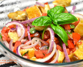 Grilled Cheese Panzanella Salad