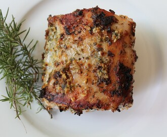 Herb and Garlic Roasted Pork Loin