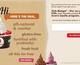 Free $5 to spend at Red Mango!