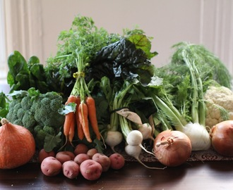 CSA menu: December and January
