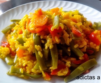 Arroz al curry con verduras en Olla GM