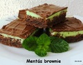 Mentás brownie