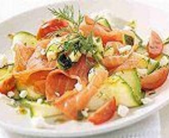 Gerookte zalm met courgette