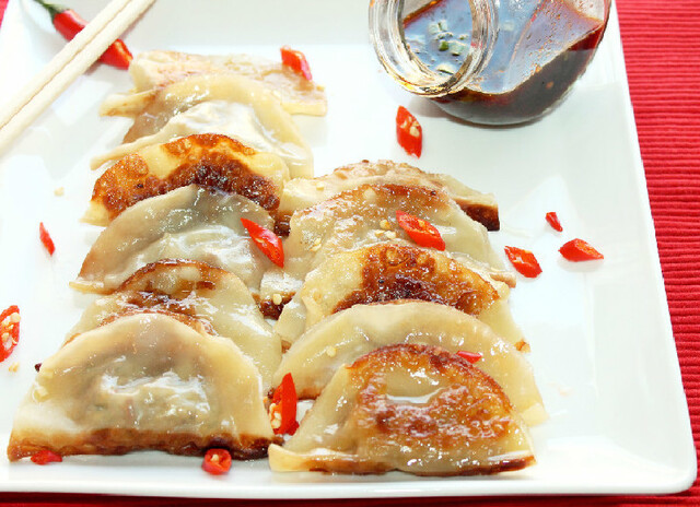 Creole Pot Stickers with Andouille and Chicken