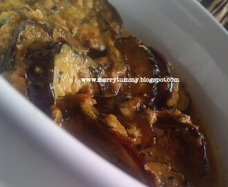 Achari Baingan/Brinjal/Eggplant With Pickle Spices