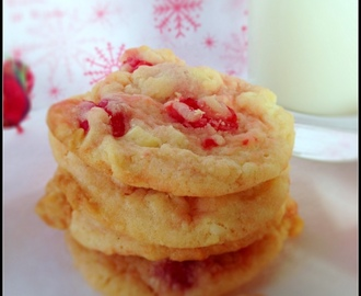 Cherry-White Chocolate Chunk Cookies....Day #1 of #Christmas Week