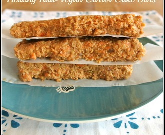 Healthy Raw Carrot Cake Bars