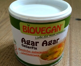 Over bindmiddelen: Agar agar
